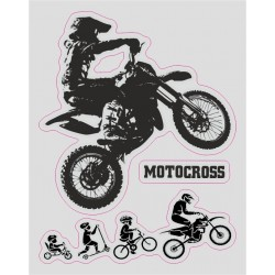 ADESIVO LOGO EVOLUZIONE MOTOCROSS CM 12 X 10