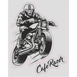 ADESIVO LOGO CAFE RACER CM 12 X 10