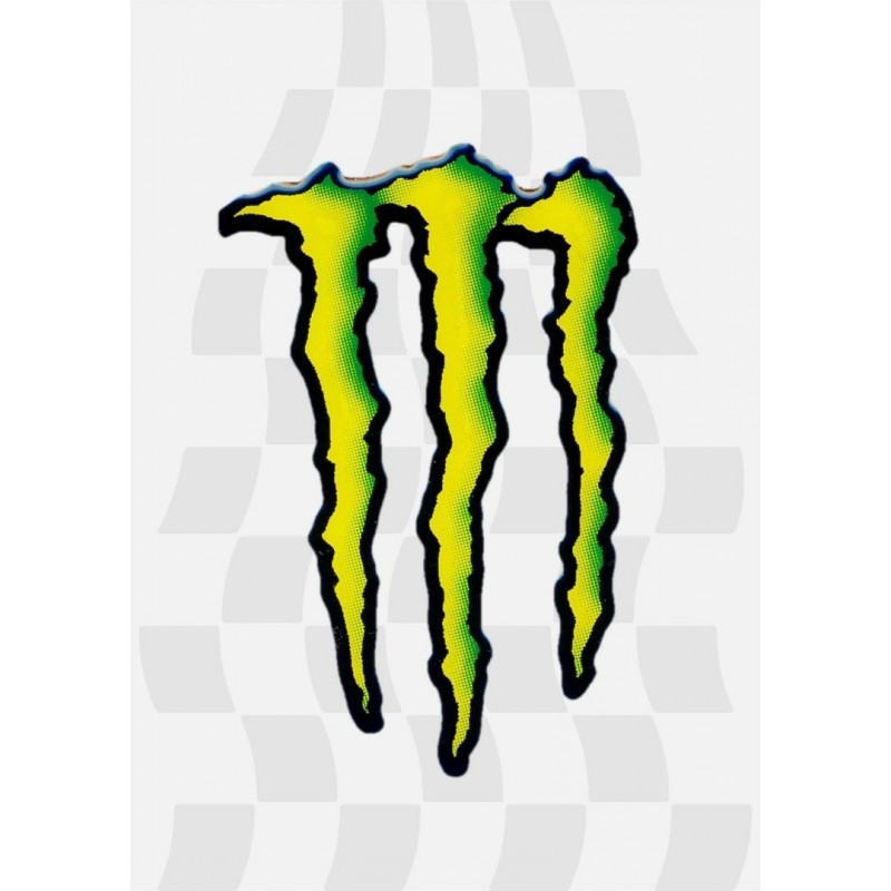 ADHESIVE 3D SCRATCH MONSTER CM 17 X 11