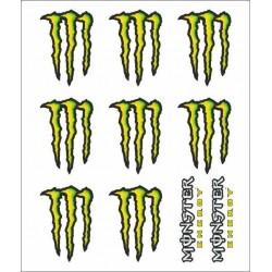 MONSTER SCRATCH STICKERS CM 14 X 16