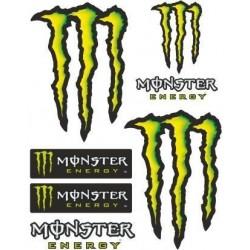 MONSTER SCRATCH STICKERS CM 10 x 12