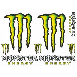 MONSTER SCRATCH STICKERS CM 24 x 34