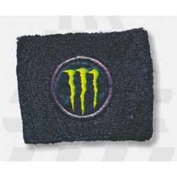 BRAKE OIL TANK PROTECTION CUFF WITH BLACK EMBROIDERED MONSTER EMBLEM