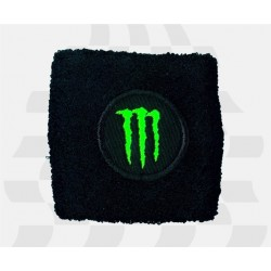 BRAKE OIL TANK PROTECTION CUFF WITH BLACK PRINTED MONSTER EMBLEM