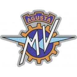 PATCH ADHESIVE IN FABRIC EMBLEM MV AGUSTA 9.8 x 6.1 cm