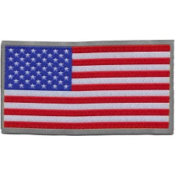 ADHESIVE PATCH IN FABRIC AMERICAN FLAG USA 8x4.6 cm