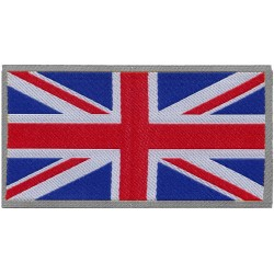 ADHESIVE PATCH IN ENGLISH FLAG FABRIC 8x4,6 cm