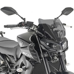 WINDSHIELD GIVI FOR YAMAHA MT-09 2017/2020, SMOKED