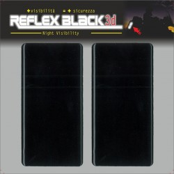 HIGH VISIBILITY 3D REFLECTIVE ADHESIVE BLACK CM 5 X 10 PCS 2
