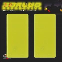 HIGH VISIBILITY 3D REFLECTIVE STICKER YELLOW FLUO CM 5 X 10 PCS 2