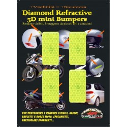 HIGH VISIBILITY 3D REFLECTIVE STICKER YELLOW CM 5 X 2.5 PCS 4