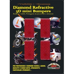 HIGH VISIBILITY 3D REFLECTIVE STICKER RED CM 5 X 2.5 PCS 4