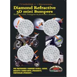 ADESIVO RIFRANGENTE 3D ALTA VISIBILITA' BIANCO DIAMETRO CM 3 PZ 4
