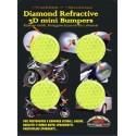 ADESIVO RIFRANGENTE 3D ALTA VISIBILITA' GIALLO DIAMETRO CM 3 PZ 4