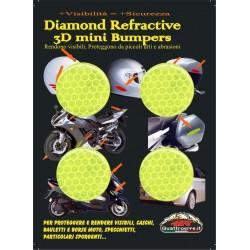 HIGH VISIBILITY 3D REFLECTIVE STICKER YELLOW DIAMETER CM 3 PCS 4