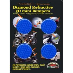 HIGH VISIBILITY 3D REFLECTIVE ADHESIVE BLUE DIAMETER CM 3 PCS 4