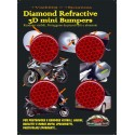 ADESIVO RIFRANGENTE 3D ALTA VISIBILITA' ROSSO DIAMETRO CM 3 PZ 4