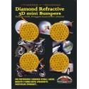 ADESIVO RIFRANGENTE 3D ALTA VISIBILITA' ARANCIO DIAMETRO CM 3 PZ 4