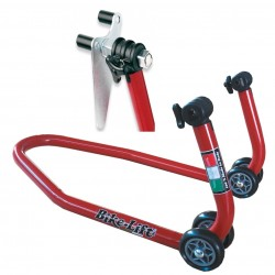 MOTORCYCLE FRONT STAND WITH ROLLER SUPPORTS