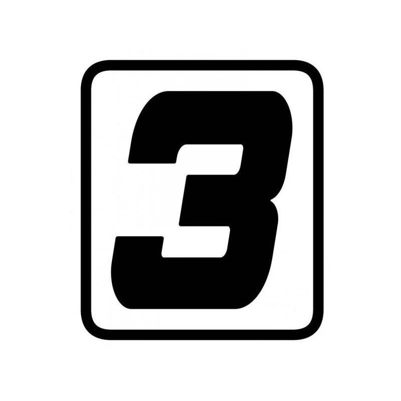 ADESIVO NUMERO 3 BARRACUDA