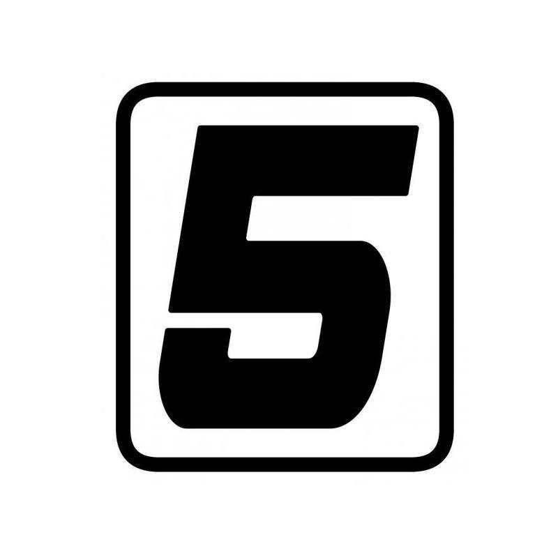 ADESIVO NUMERO 5 BARRACUDA