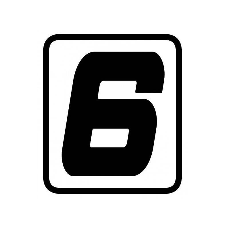 ADESIVO NUMERO 6 BARRACUDA