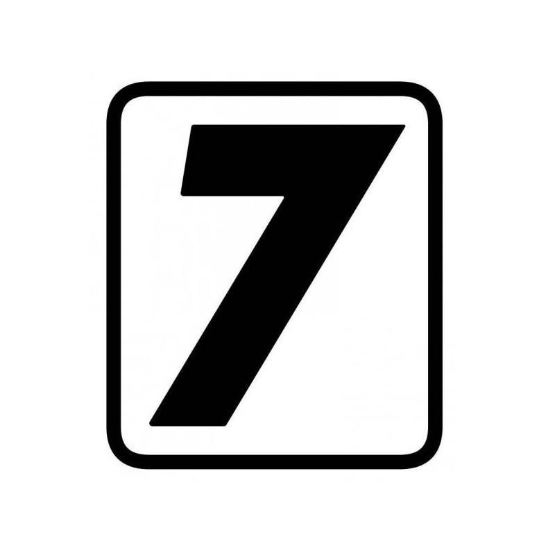 ADESIVO NUMERO 7 BARRACUDA