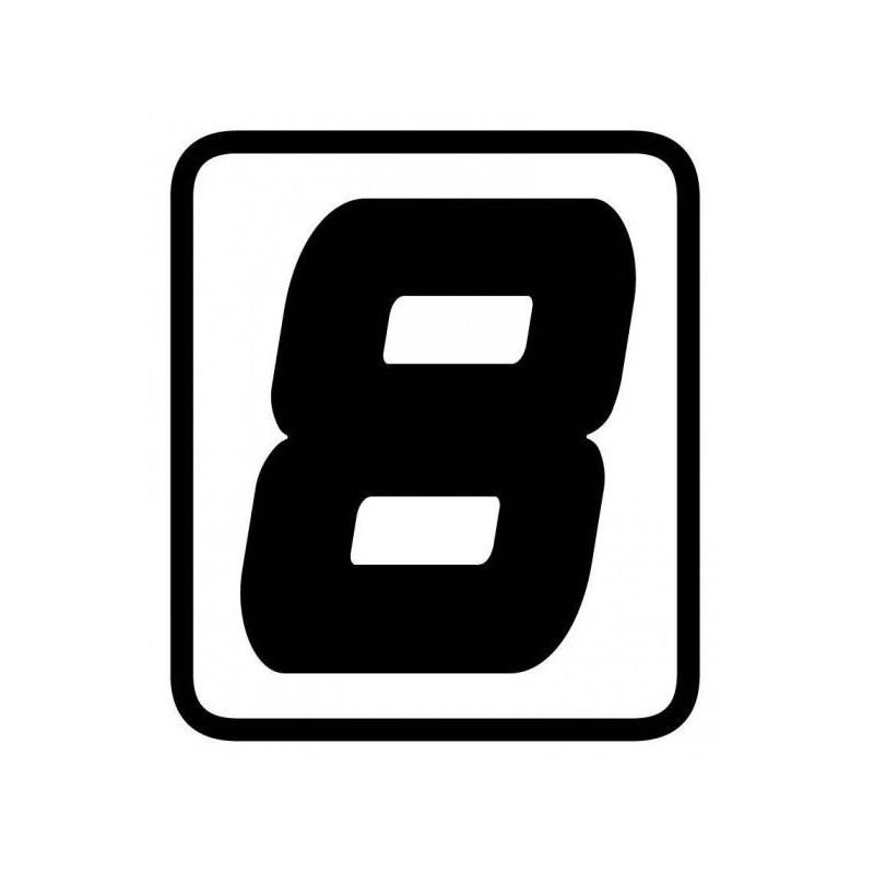 ADESIVO NUMERO 8 BARRACUDA