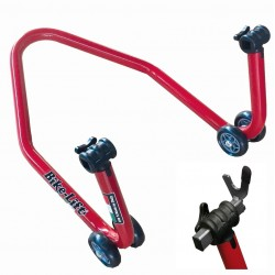 MOTORCYCLE REAR STAND WITH FORK SUPPORTS