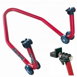 MOTORCYCLE REAR STAND WITH RUBBER SUPPORTS