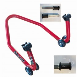 MOTORCYCLE REAR STAND WITH SINGLE ROLLER SUPPORT