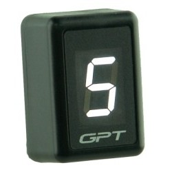 DIGITAL DRIVING INDICATOR INSERTED UNIVERSAL GPT GI 1002 W WHITE WITH SPEED SENSOR