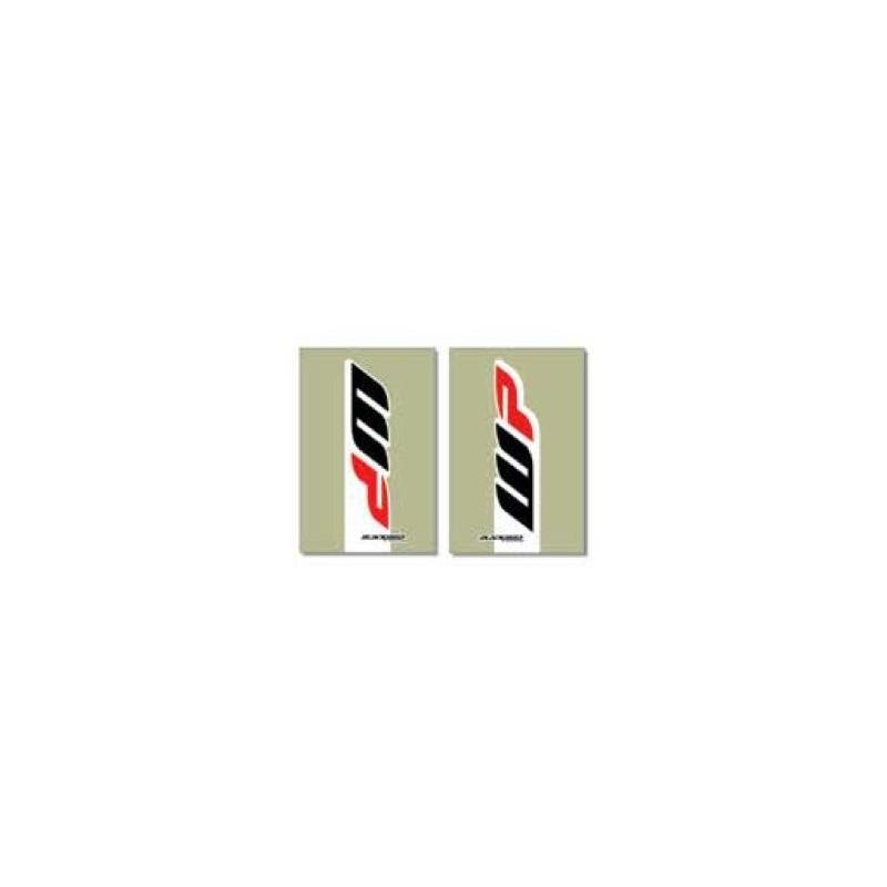 PAIR OF STICKERS FOR BLACKBIRD FORK SLIDERS MODEL WP 2017 FOR KTM, TRANSPARENT