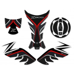 3D STICKERS SIDE PROTECTION, TANK, CAP, KAWASAKI Z 900 KEY