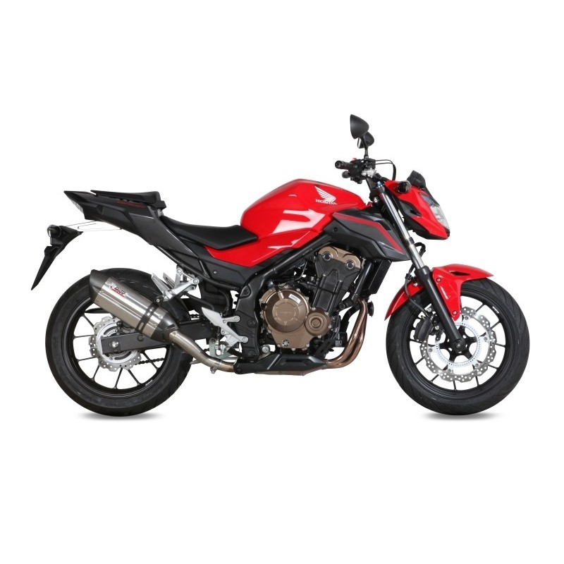 MIVV SOUND STAINLESS STEEL EXHAUST SYSTEM FOR HONDA CB 500 F 2016/2018, APPROVED