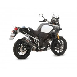 EXHAUST TERMINAL MIVV OVAL CARBON CARBON CUP FOR SUZUKI V-STROM 1000 2014/2019, APPROVED