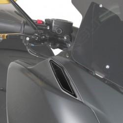 ALUMINUM BARRACUDA MIRROR HOLE CAPS FOR YAMAHA T-MAX 530 2017/2019