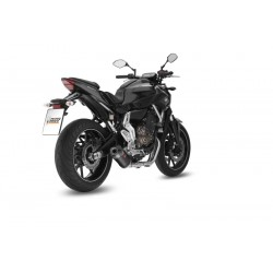 COMPLETE EXHAUST SYSTEM MIVV OVAL CARBON CARBON CUP FOR YAMAHA MT-07 2014/2020