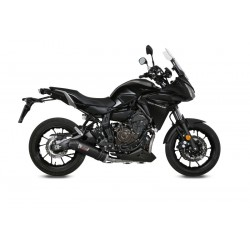 COMPLETE EXHAUST SYSTEM MIVV OVAL CARBON CARBON CUP FOR YAMAHA TRACER 700 2016/2019, APPROVED