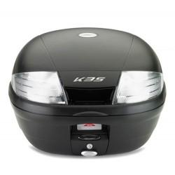 MONOLOCK CASE KAPPA K35NT WITH TRANSPARENT REFLECTORS CAPACITY 35 LITERS, COLOR MATT BLACK
