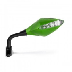 PAIR OF BARRACUDA RACE INDICATOR REAR-VIEW MIRRORS, GREEN COLOR