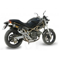 PAIR OF MIVV GP EXHAUST PIPES IN CARBON WITH HIGH PASSAGE FOR DUCATI MONSTER 600 1998/2001, APPROVED