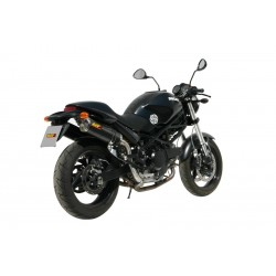 PAIR OF EXHAUST SYSTEMS MIVV OVAL CARBON WITH HIGH PASSAGE FOR DUCATI MONSTER 695, APPROVED