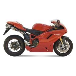 PAIR OF MIVV SOUND EXHAUST SYSTEMS IN STAINLESS STEEL FOR DUCATI 1098/S 2007/2008, APPROVED