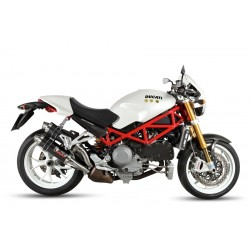 PAIR OF MIVV GP EXHAUST TERMINALS IN CARBON FOR DUCATI MONSTER S4RS 2006/2009, APPROVED