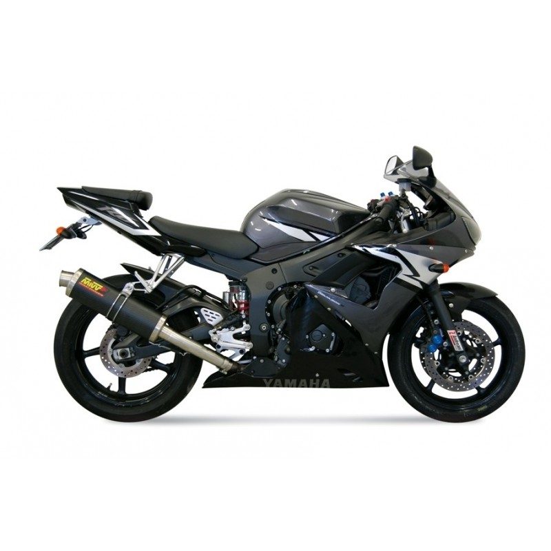 EXHAUST TERMINAL MIVV OVAL CARBON FOR YAMAHA R6 2003/2005, APPROVED