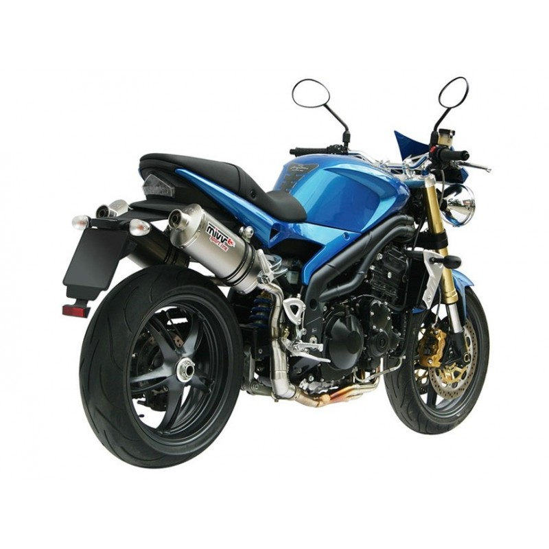 EXHAUST MIVV OVAL TITANIUM FOR TRIUMPH SPEED TRIPLE 2005/2006, APPROVED