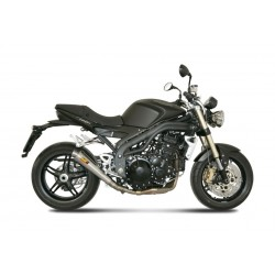 MIVV X-CONE EXHAUST TERMINAL IN STAINLESS STEEL LOW PASSAGE FOR TRIUMPH SPEED TRIPLE 2007/2010, APPROVED
