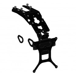 ADJUSTABLE ALUMINUM PLATE HOLDER COMPLETE WITH ORIGINAL PLASTIC FOR YAMAHA XSR 900 2016/2019