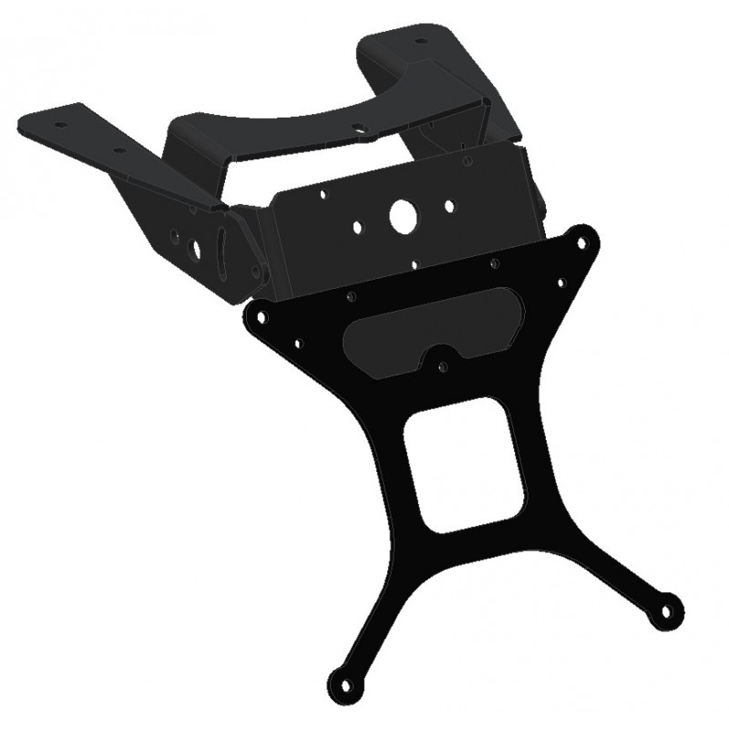 ADJUSTABLE ALUMINUM LICENSE PLATE SUPPORT FOR DUCATI ST3, ST4, SUPERSPORT 1000 2004/2006
